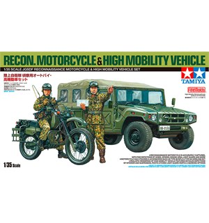 Recon Motorcycle & High Mobility Vehicl Tamiya 1:35 Byggesett - JGSDF