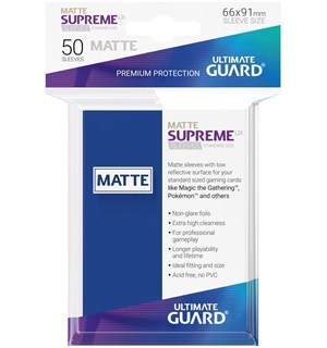 Sleeves Supreme Matte Blå x50 66x91 Ultimate Guard Kortbeskytter/DeckProtect