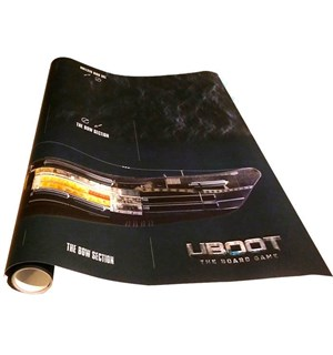 Uboot Latex Giant Playmat 95x37cm Spillmatte til Uboot
