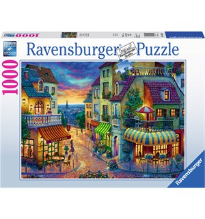 Evening in Paris 1000 biter Puslespill Ravensburger Puzzle