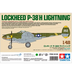 Lockheed P-38H Lightning White Box Tamiya 1:48 Byggesett