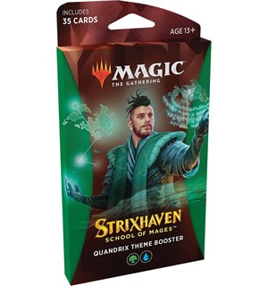Magic Strixhaven Theme Quandrix Theme Booster - 35 grønne/blå kort
