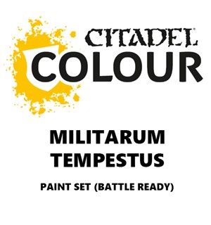 Militarum Tempestus Paint Set Battle Ready Paint Set for din hær