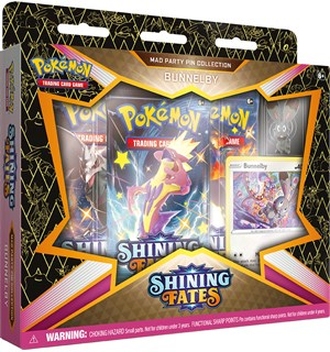 Pokemon Shining Fates Pin Coll Bunnelby Sword & Shield 4.5