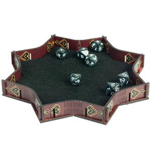 RPG Dice Tray Red Explosion 23cm