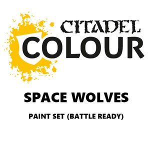Space Wolves Paint Set Battle Ready Paint Set for din hær
