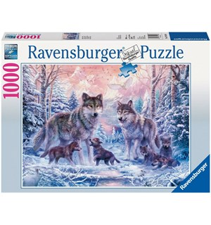 Arctic Wolves 1000 biter Puslespill Ravensburger Puzzle 70 x 50 cm
