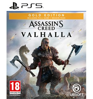 Assassins Creed Valhalla Gold PS5 Gold Edition med Season Pass