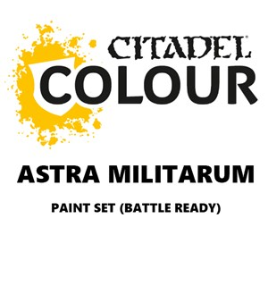 Astra Militarum Paint Set Battle Ready Paint Set for din hær