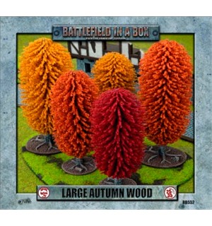 Battlefield in a Box Large Autumn Wood Painted Tabletop Terrain - 25-30mm
