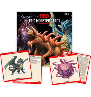 D&D Cards Epic Monster Cards Dungeons & Dragons - 77 kort