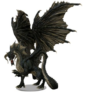 D&D Figur Icons Adult Black Dragon Icons of the Realms Premium Figure