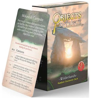 D&D Objects of Intrigue Wilderlands Deck Dungeons & Dragons - Random Encounters