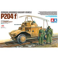German Armored Railway Vehicle P204(f) Tamiya 1:35 Byggesett