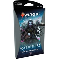 Magic Kaldheim Theme Black Theme Booster - 35 svarte kort