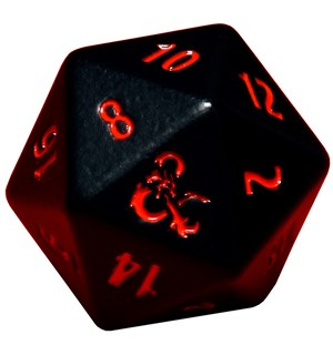 RPG Dice D20 Metal D&D Black/Red D20 terninger til rollespill - 2 stk