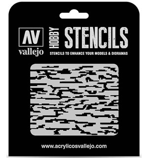Hobby Stencils Pixelated Modern Camo Vallejo