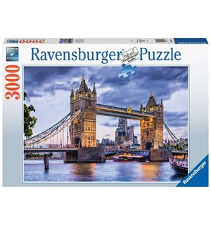 London Tower Bridge 3000 biter Puslespil Ravensburger Puzzle