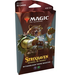 Magic Strixhaven Theme Witherbloom Theme Booster - 35 svarte/grønne kort