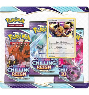 Pokemon Chilling Reign 3-Pack Eevee Sword & Shield 6 - 3 boosterpakker