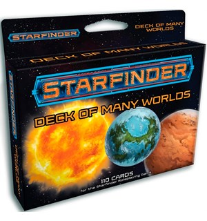Starfinder RPG Deck of Many Worlds Roleplaying Game - 110 kort