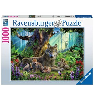 Wolves in Forest 1000 biter Puslespill Ravensburger Puzzle
