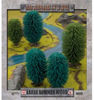 Battlefield in a Box Large Summer Wood Painted Tabletop Terrain - 25-35mm