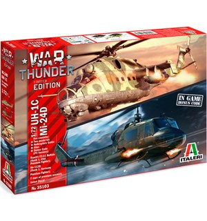 War Thunder UH-1C & MI-24D Italeri 1:72 Byggesett