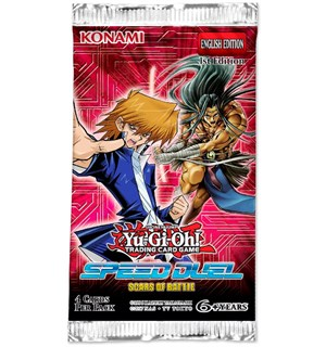 Yu Gi Oh Scars of Battle Booster Speed Duel - 4 kort per pakke