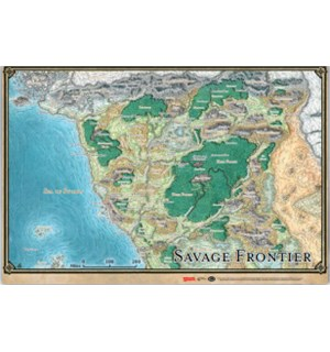 D&D Maps Savage Frontier Map Dungeons & Dragons