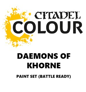 Daemons of Khorne Paint Set Battle Ready Paint Set for din hær