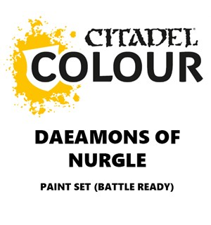 Daemons of Nurgle Paint Set Battle Ready Paint Set for din hær