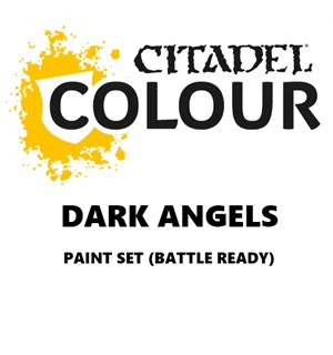 Dark Angels Paint Set Battle Ready Paint Set for din hær