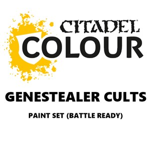 Genestealer Cults Paint Set Battle Ready Paint Set for din hær