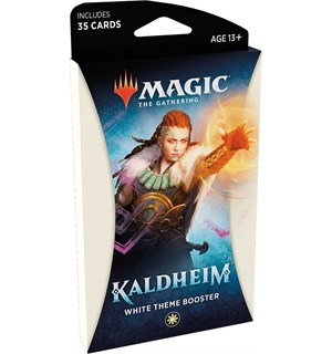 Magic Kaldheim Theme White Theme Booster - 35 hvite kort
