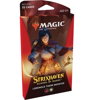 Magic Strixhaven Theme Lorehold Theme Booster - 35 røde/hvite kort