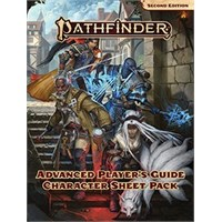 Pathfinder 2nd Ed Character Sheet Pack 2 Second Edition RPG Advanced Player Guide