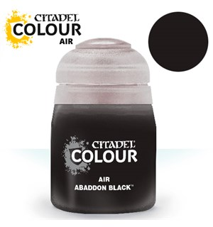 Airbrush Paint Abaddon Black 24ml Maling til Airbrush