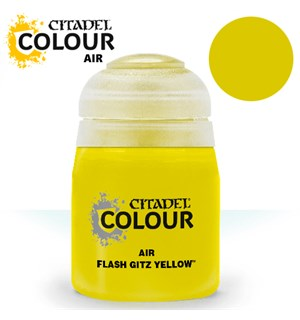 Airbrush Paint Flash Gitz Yellow 24ml Maling til Airbrush