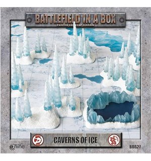 Battlefield in a Box Caverns of Ice Painted Tabletop Terrain - 25-35mm