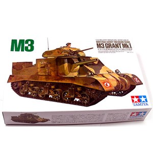 British Army Medium Tank M3 Grant MkI Tamiya 1:35 Byggesett