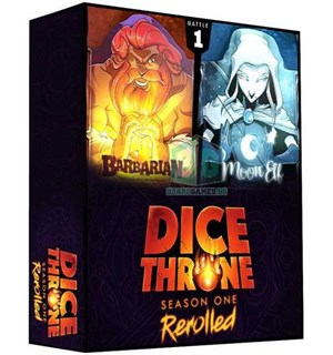Dice Throne Season 1 ReRolled Box 1 Barbarian vs Moon Elf