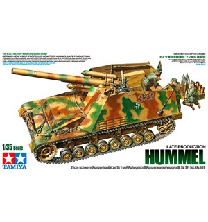 German Heavy Self-Prop. Howitzer Hummel Tamiya 1:35 Byggesett - Late Production