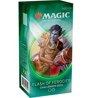 Magic Challenger Deck Flash of Ferocity Challenger Deck 2020 - Grønn/Blå