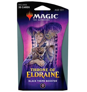 Magic Throne of Eldraine Theme Black Theme Booster - 35 svarte kort