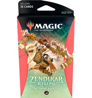 Magic Zendikar Rising Theme Red Theme Booster - 35 røde kort