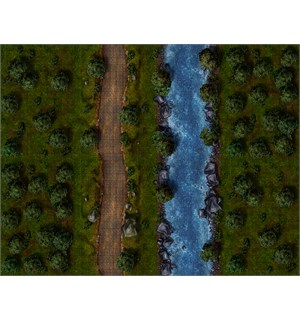 Maphammer RPG Battlemaps Forest Essent. 8 stk to-sidige modulære A3 kartdeler
