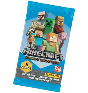 Minecraft TCG Booster Adventure Trading Cards - 8 kort