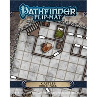 Pathfinder 2nd Ed Flip-Mat Castles x4 Second Edition RPG - Multi Pack