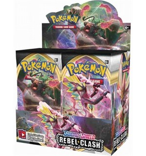 Pokemon Rebel Clash Display 36 boosterpakker á 10 kort pr pakke